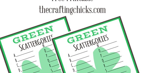 St. Patrick's Day GREEN Scattergories *Free Printable