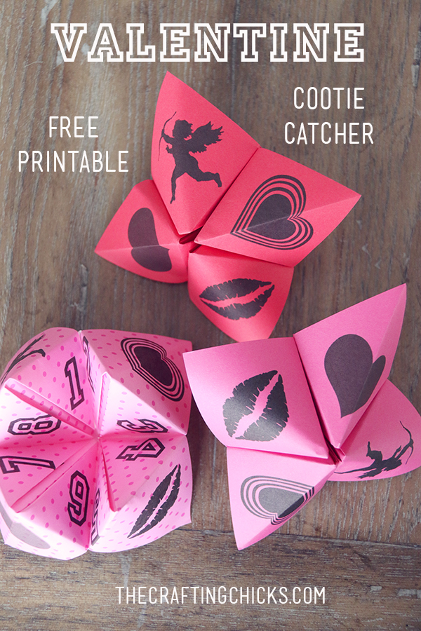 graphic regarding Printable Cootie Catcher identified as Valentine Cootie Catchers Free of charge Printable - The Creating Chicks