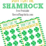 "Don't Eat the Shamrock!  St. Patrick's Day ""Don't Eat Pete"" Version *Free Printable"