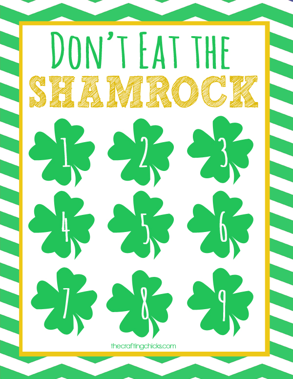 "Don't Eat the Shamrock! St. Patrick's Day ""Don't Eat Pete"" Printable Game"