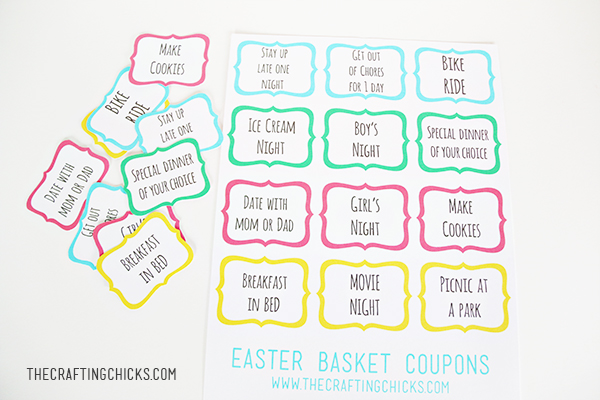 image about Egg Coupons Printable identify A Customized Easter Basket