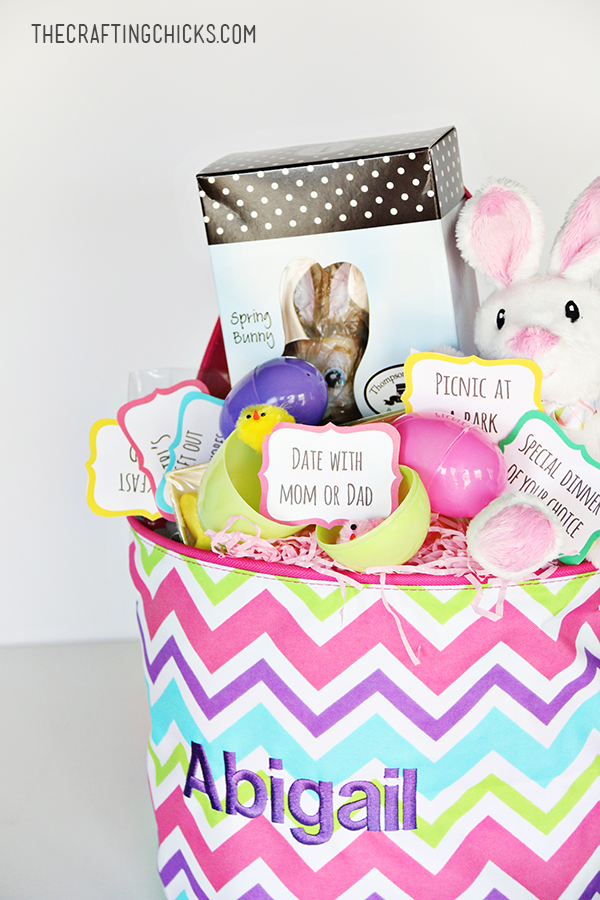 sm personalized easter basket
