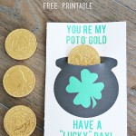"Pot of Gold ""Lucky"" Coin Printable"