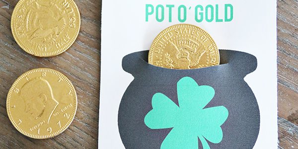 """Pot of Gold """"Lucky"""" Coin Printable"""