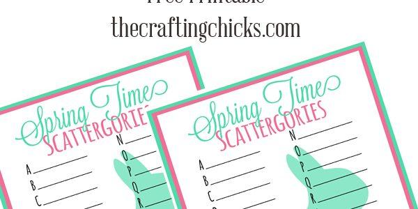 Spring Time Scattergories *Free Printable