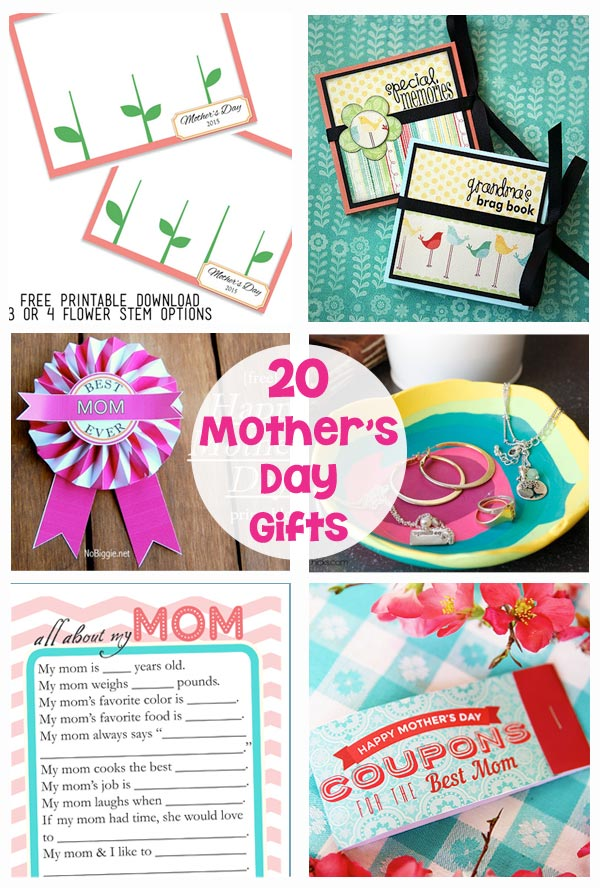 20 Mother's Day Gifts and Printables
