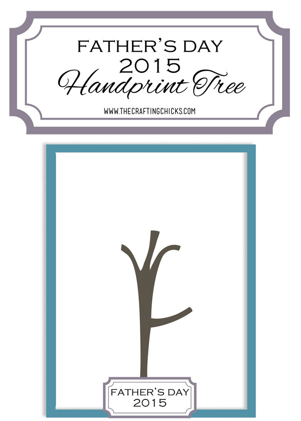 father s day handprint tree