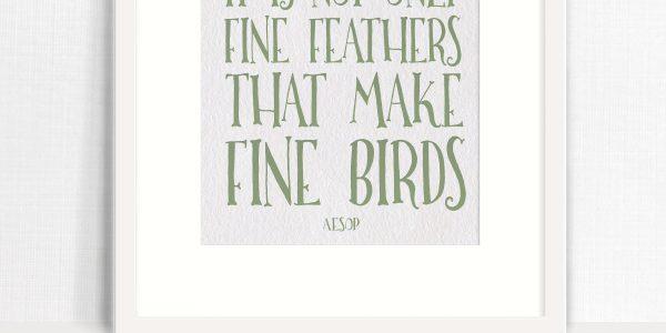 Aesop's Fine Birds Free Printable