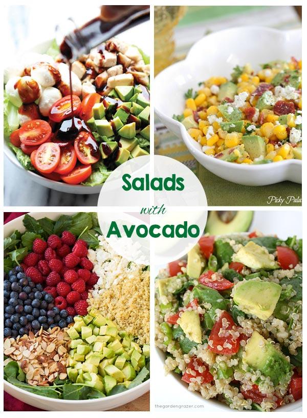 30 Yummy Salads - Chicken Salads, Pasta Salads, Salads with Acovado... So many great recipes!