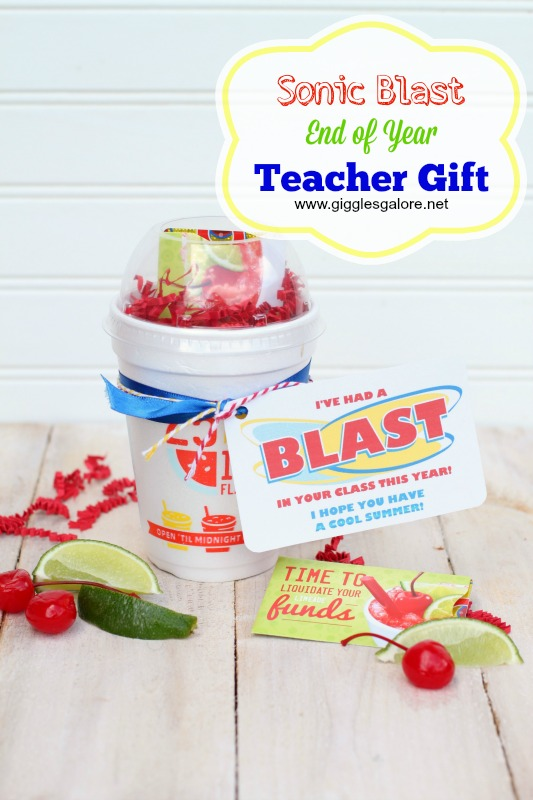 Sonic End of the Year Teacher Gift