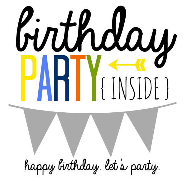 birthday party in a can printable label