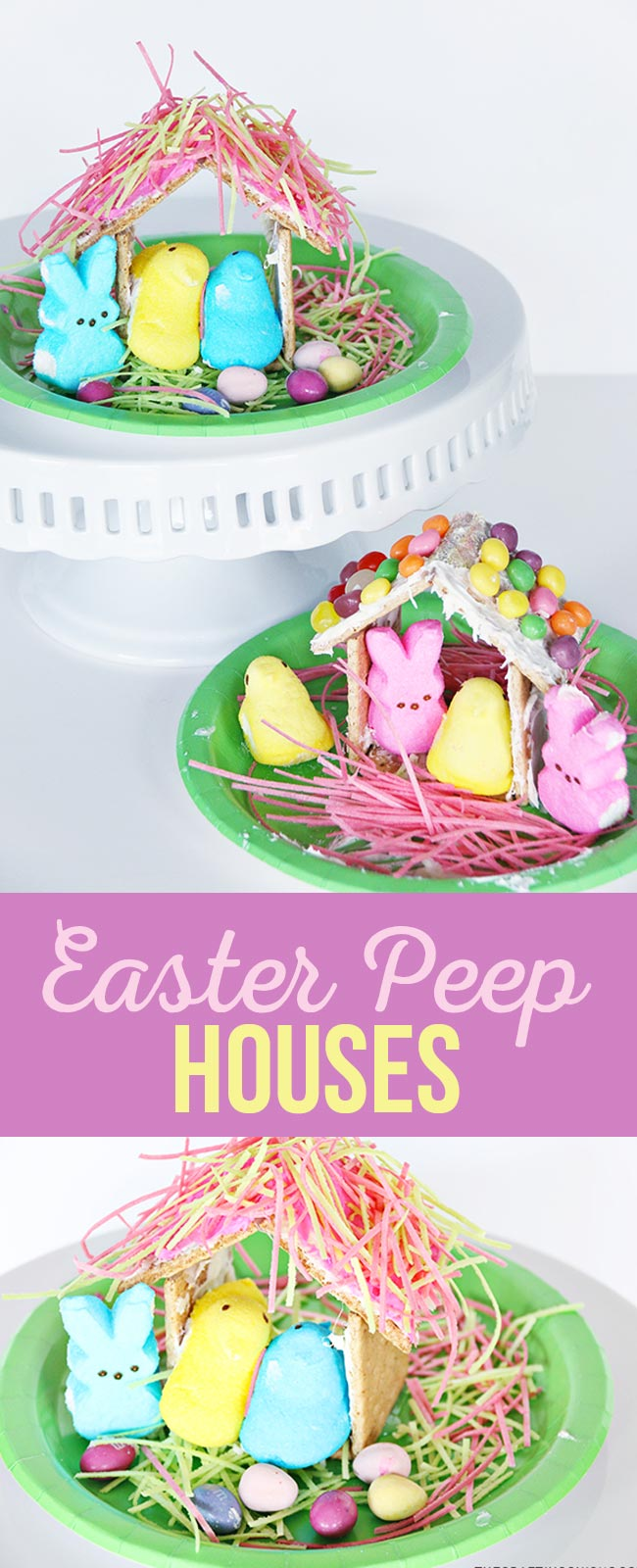 Easter Peep Houses Kid Craft