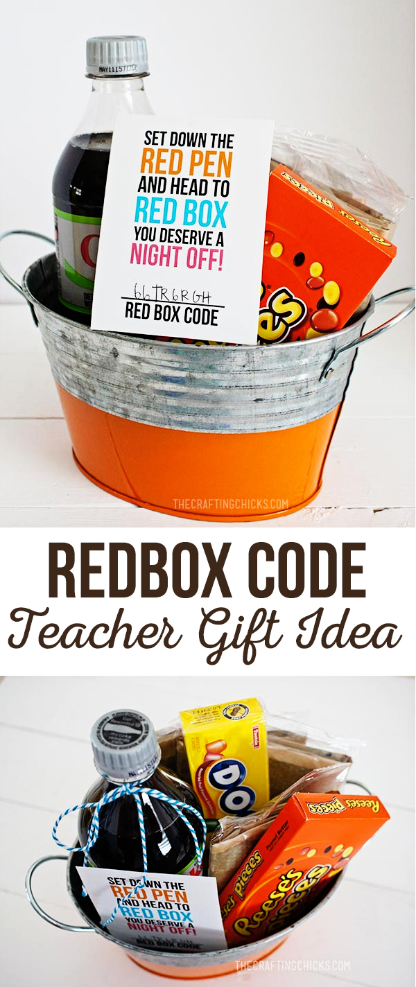 Redbox Gift Code Teacher Appreciation Gift Idea