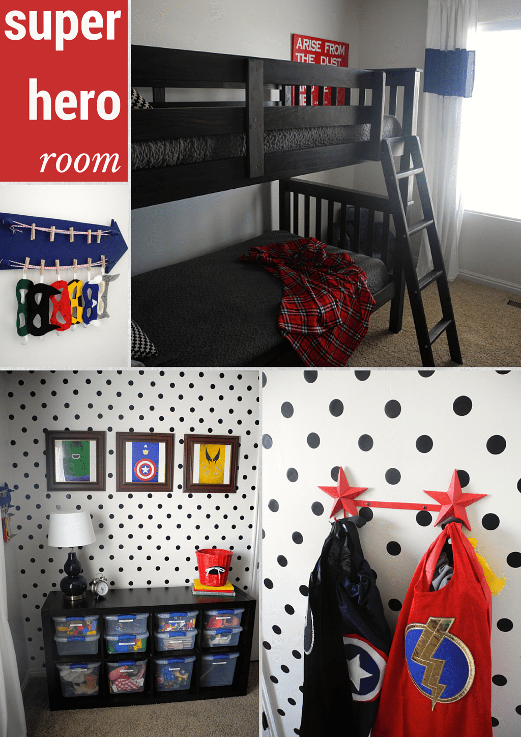 Boys super hero room