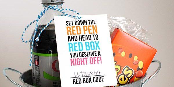 RedBox Teacher Appreciation Printable