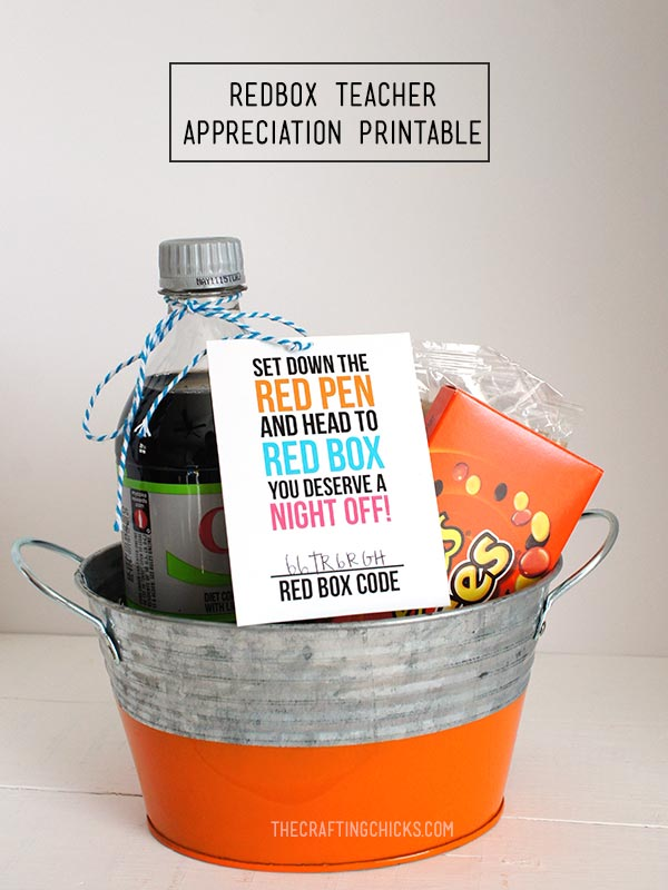 Redbox Teacher Appreciation Printable