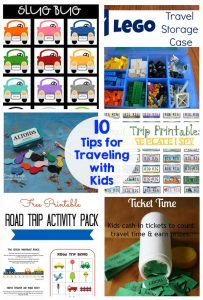 10 tips for traveling with kids - printables, games, activities - this has it all!