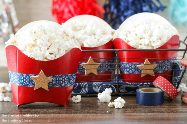 DIY Patriotic Popcorn Favors with homemade popcorn recipe