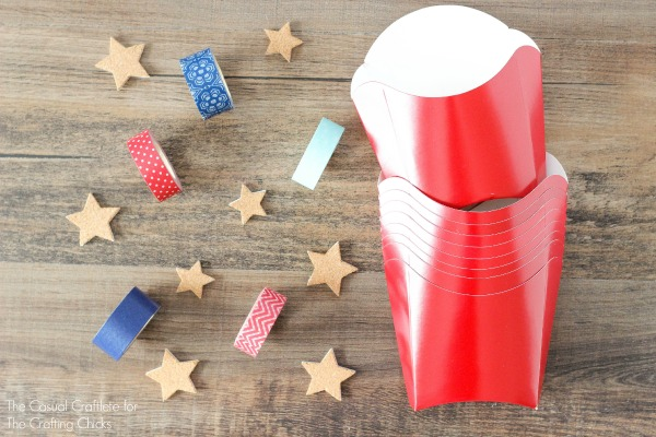 Fun red, white and blue party favor ideas