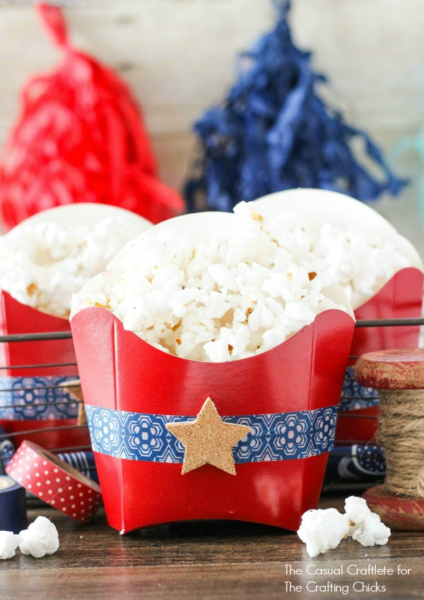 Patriotic Popcorn Favors