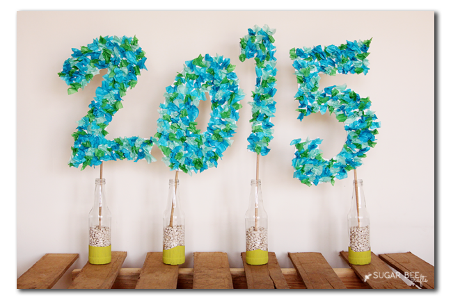 DIY Tissue Paper Party Sign