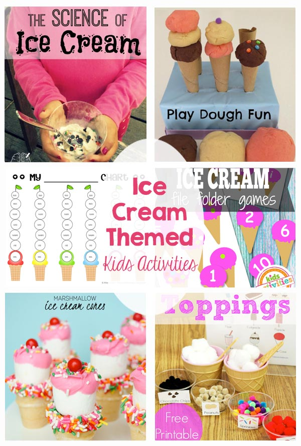 Ice Cream Themed Kids Activities