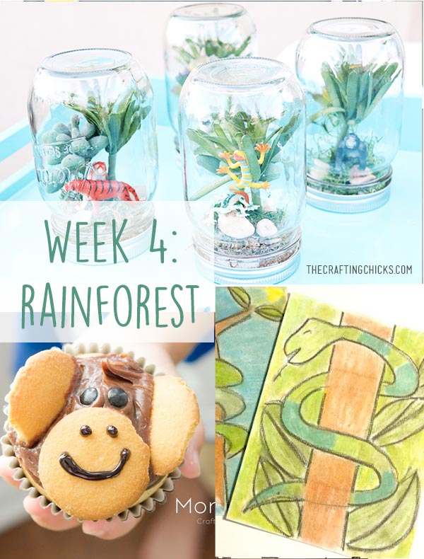 Rainforest Week - Kid crafts, activities, printables, treats and games all about rainforests!
