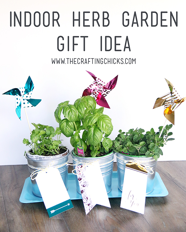 Indoor Herb Garden with Minc Gold Foil Touches - The Crafting Chicks