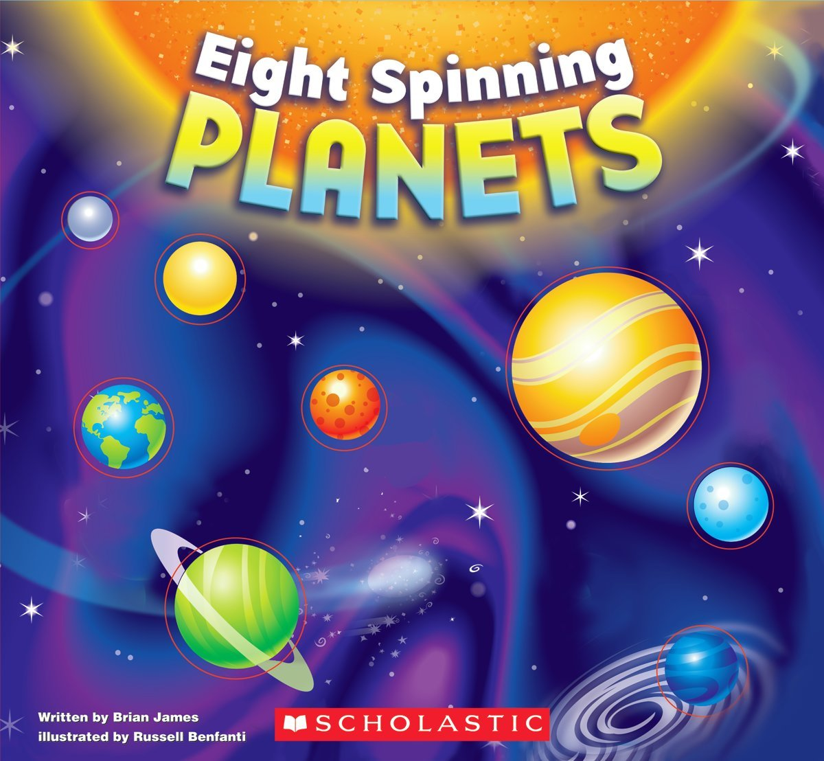 space eight spinning planets