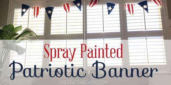 Spray Painted Patriotic Banner
