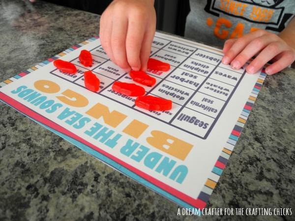 Free Printable | Under the Sea Sounds BINGO Game | Kids Activity