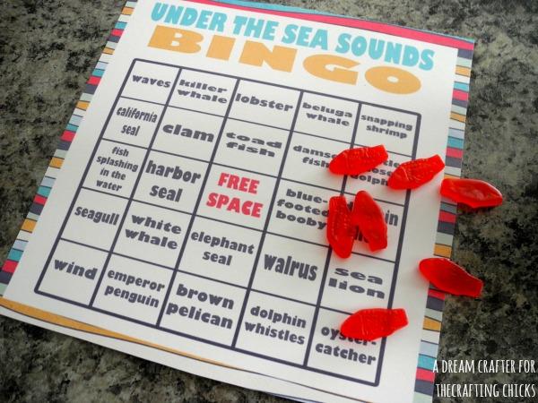 Under the sea sounds bingo
