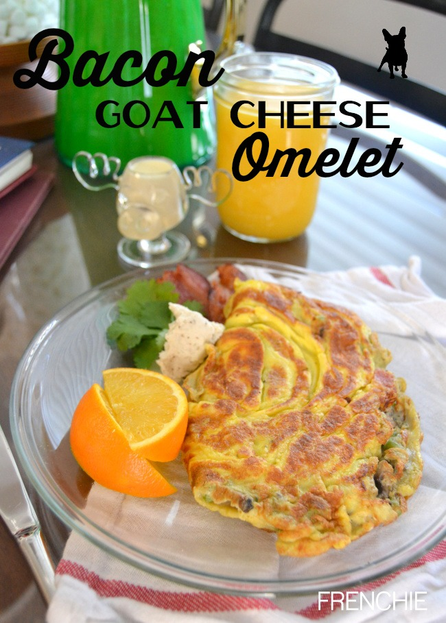 Bacon and Goat Cheese omelet for a Father's Day Breakfast