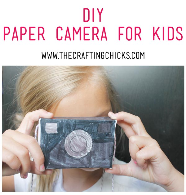 photo relating to Camera Printable identified as Do-it-yourself Paper Digital camera for Small children