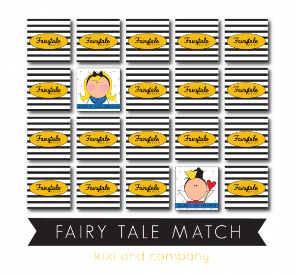 FAIRYTALE MATCH PRINTABLE CARDS