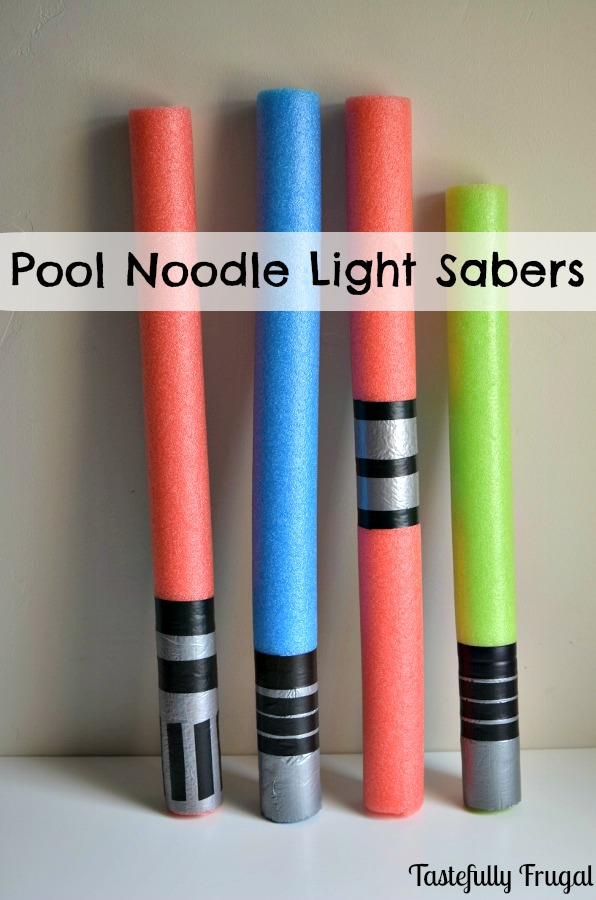 Pool Noodle Light Sabers www.tastefullyfrugal.org