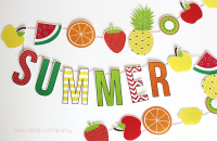 Summer Fruit Garland. Cute!