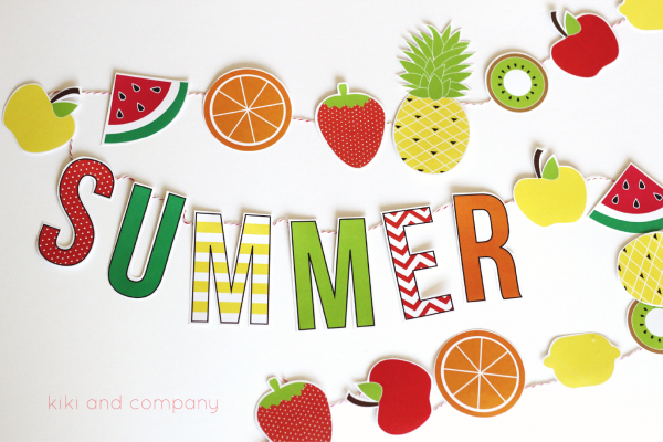 Summer Fruit Garland {free printable}
