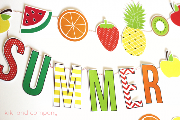 Summer Fruit garland. Super cute!