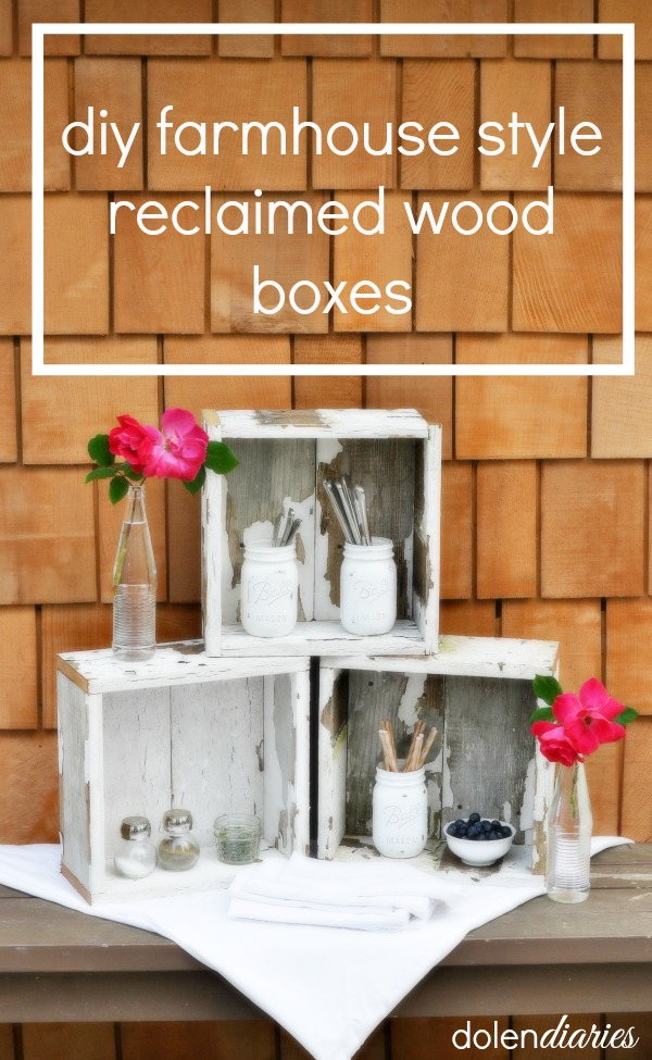 DIY Farmhouse Style Wood Box