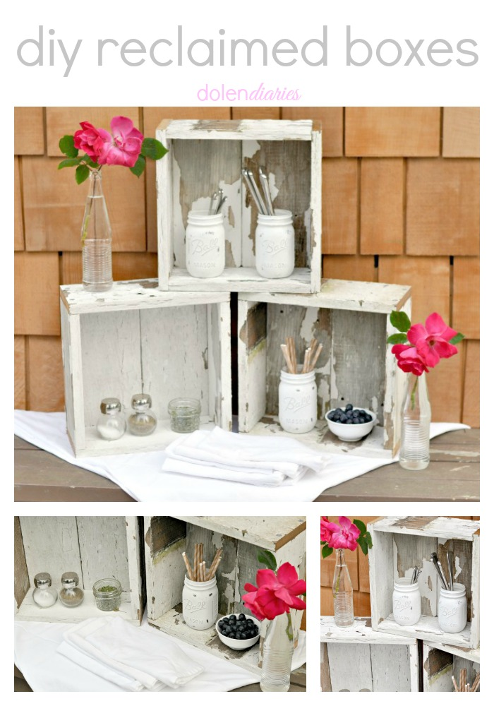 diy reclaimed boxes Collage