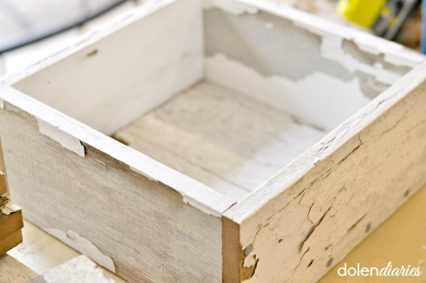 farmhouse style wooden box