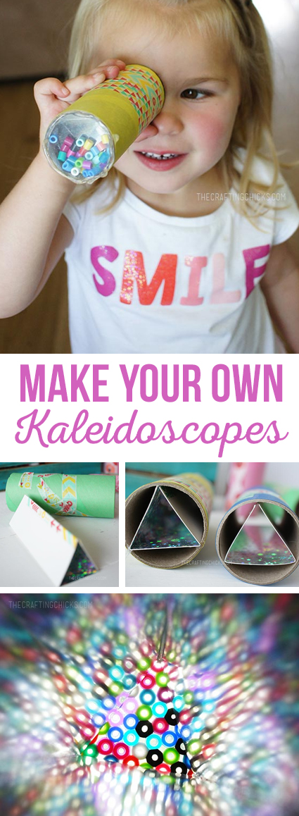 Make Your Own Kaleidoscopes, DIY Kaleidoscopes, Kid Craft