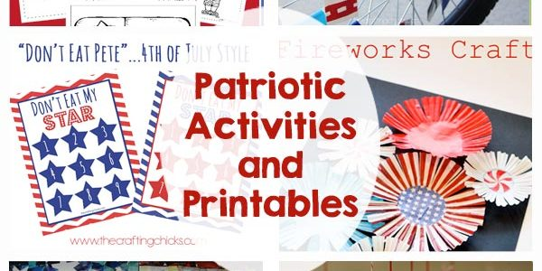 Patriotic Kids Activities and Printables