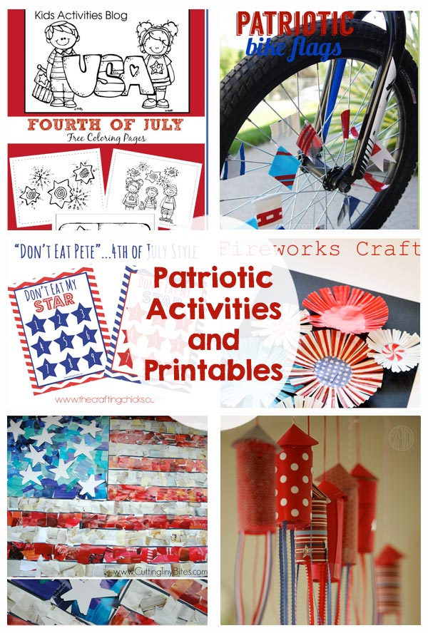 Patriotic Kids Activities And Printables The Crafting Chicks