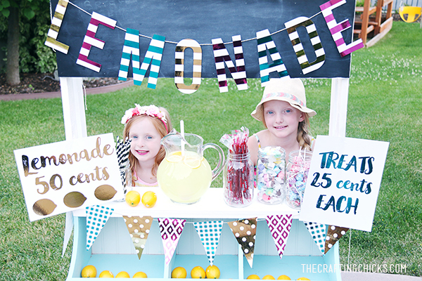 DIY Fancy Lemonade Stand | Summer | Kids Activity