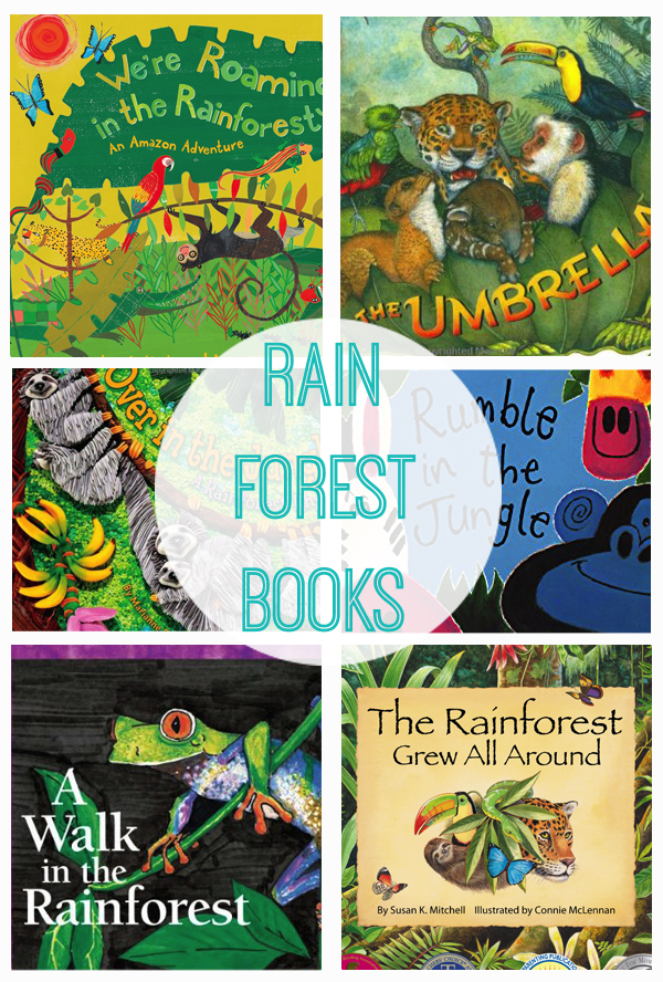 sm rain forest book collage