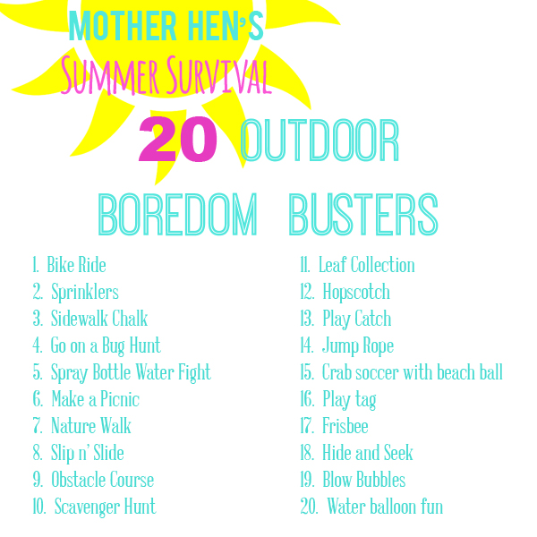 sm summer outdoor boredom busters