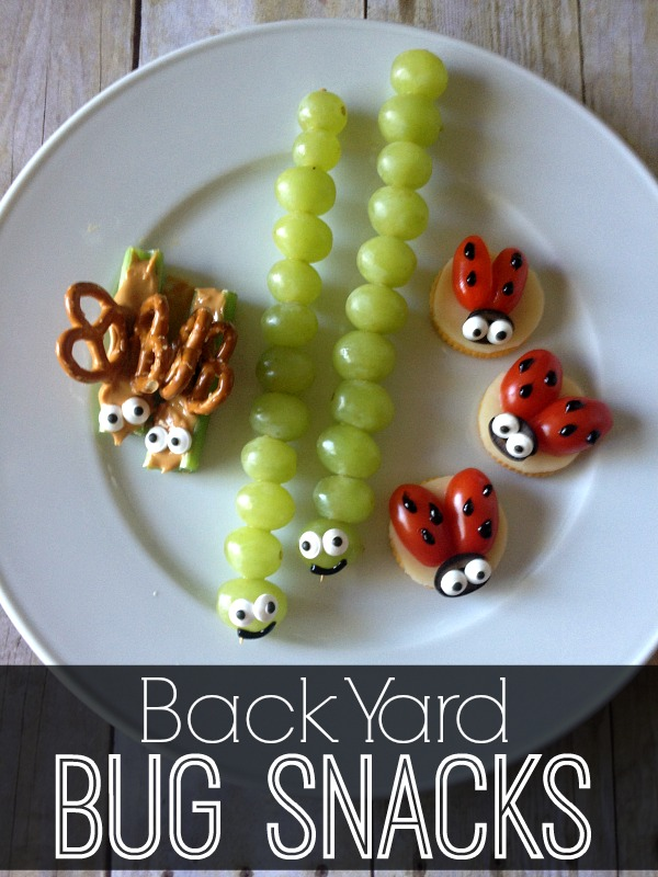 Back Yard Bug Snacks - Bug Week. A list of books, crafts, activities and recipes to easily engage your kids.