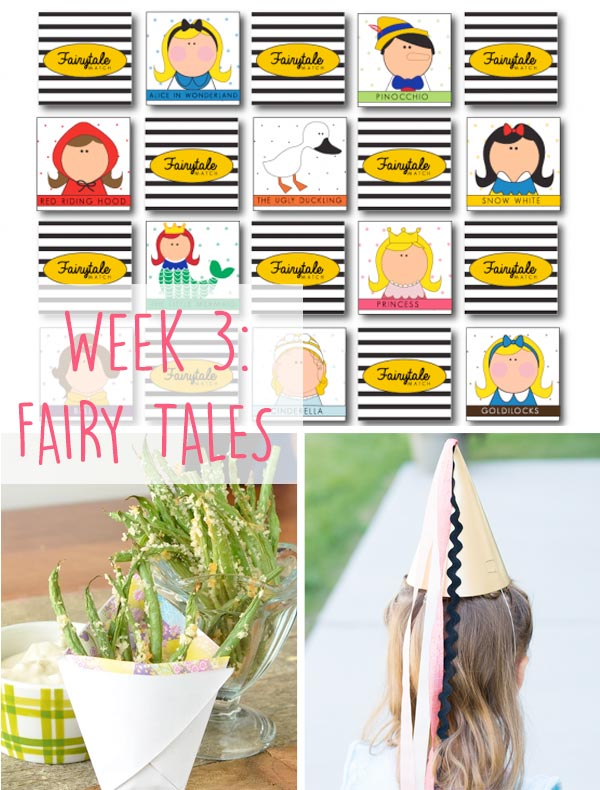 Fairy Tales Week. A list of picture books, crafts, activities and recipes to easily engage your kids. Great for summer, preschool and playdates!
